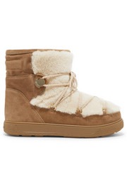 New Fanny shearling-paneled suede snow boots