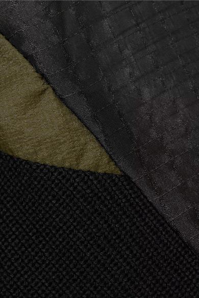 Sacai Gerippter Baumwollpullover mit Organzaeinsätzen Austrittskosten Genießen Sie Online Wv4QoRCk