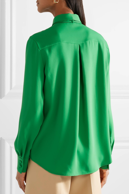 Sara Battaglia Pussy-bow crepe blouse