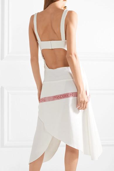 JW Anderson Tea Towel asymmetrisches Kleid aus Baumwoll-Jersey und Leinen mit Cut-out In Deutschland Rabatt Neuesten Kollektionen Neuester Günstiger Preis qATLbSLb