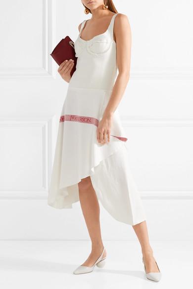 JW Anderson Tea Towel asymmetrisches Kleid aus Baumwoll-Jersey und Leinen mit Cut-out In Deutschland Rabatt Neuesten Kollektionen Verkauf Online-Shopping Freies Verschiffen Großhandelspreis Neuester Günstiger Preis lBaS39OzE9