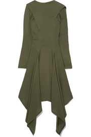 JW Anderson Asymmetric silk-georgette midi dress