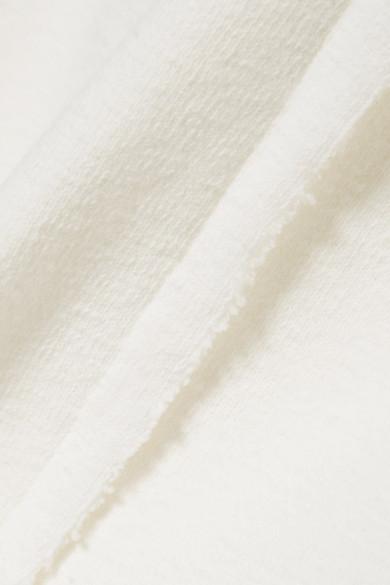 JW Anderson Midikleid aus strukturierter Stretch-Baumwolle mit Cut-out