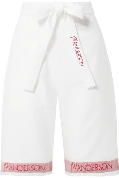 Jw Anderson Logo Printed Shorts - White