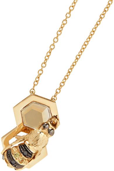 Delfina Delettrez 9-karat Gold Multi-stone Necklace l20qa3