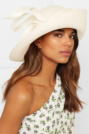 Script Crown straw hat