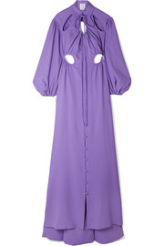 Cry Baby Robe aus Crêpe mit Cut-outs