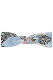 Mare printed cotton-voile headband