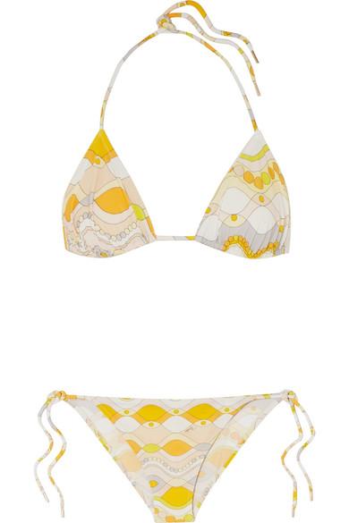 Emilio Pucci Guiola bedruckter Triangel-Bikini