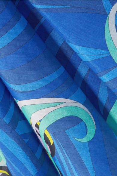 Emilio Pucci Kaftan aus einer bedruckten Baumwoll-Seidenmischung