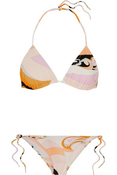 Emilio Pucci Bedruckter Triangel-Bikini
