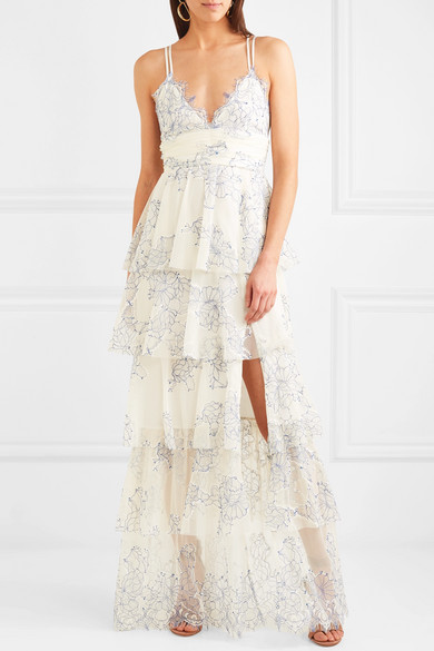 Alice Mccall Love Is Love Tiered Lace Gown Net A Portercom