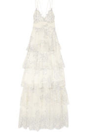 alice McCALL Love Is Love tiered lace gown