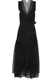 alice McCALL Reflection asymmetric corded lace maxi dress