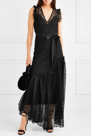 Reflection asymmetric corded lace maxi dress