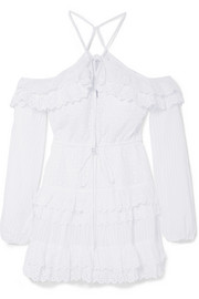 alice McCALL Lover Of Mine broderie anglaise cotton mini dress