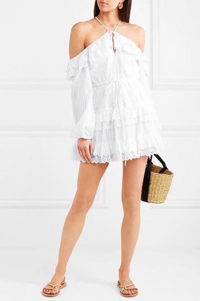 alice McCALL Lover Of Mine Minikleid aus Baumwolle mit Lochstickerei