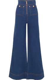 alice McCALL Bluesy high-rise wide-leg jeans