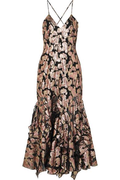 cdb0a8e1 alice McCALL | Best Of You metallic silk-blend jacquard midi dress ...