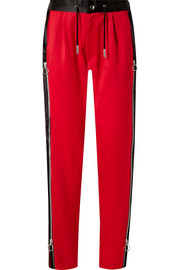 Marques' Almeida Zip-embellished satin-trimmed wool track pants
