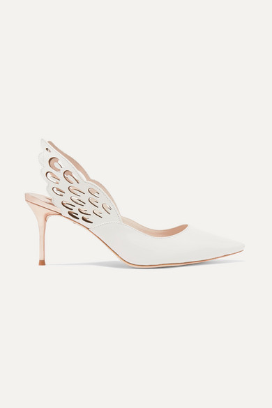 Angelo cutout leather pumps