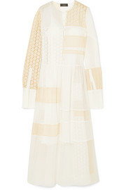 Joseph Odette broderie anglaise cotton-blend and organza maxi dress
