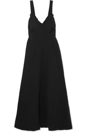 Greer open-back crinkled-crepe midi dress