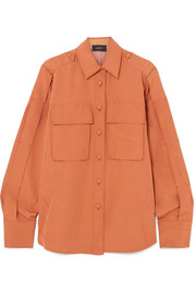 Jim oversized crinkled-crepe shirt