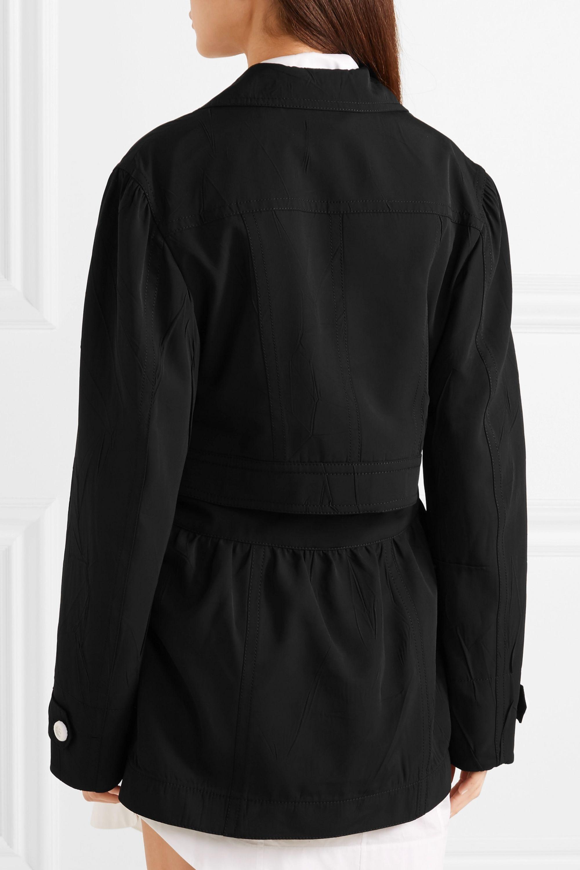 Joseph Hewitt convertible crinkled-canvas coat