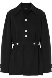 Hewitt convertible crinkled-canvas coat