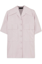Dane silk-poplin shirt