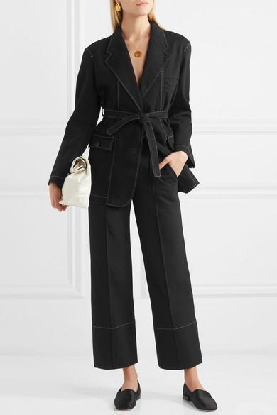 Lemaire Jacke aus Baumwolle mit Gürtel
