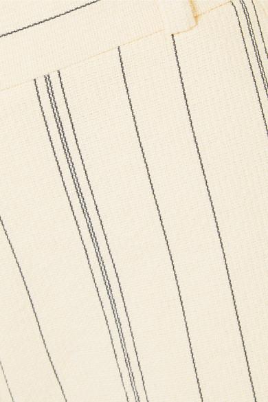 See by Chloé Hose mit weitem Bein und Nadelstreifen aus einer Baumwollmischung