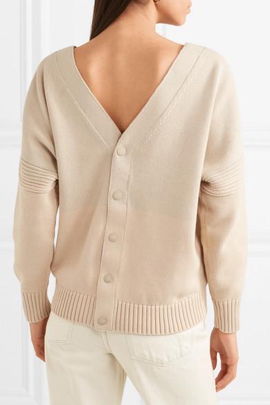 38d7fdea Ribbed cotton cardigan