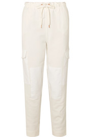 See by Chloé Twill-paneled cotton-jersey track pants