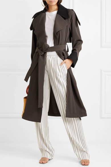 See by Chloé Zweifarbiger Trenchcoat aus Jersey