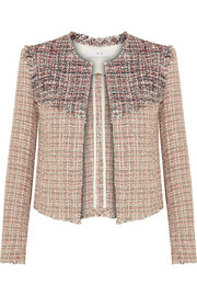 IRO Walefa frayed cotton-blend tweed jacket