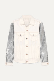 Nanopo sequined jersey and denim jacket