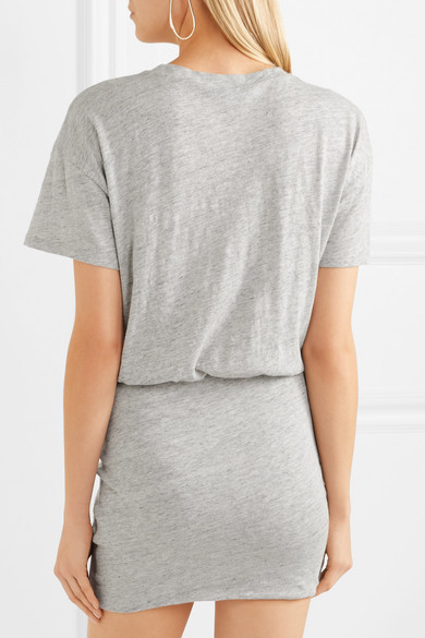 IRO Brelbloa Minikleid aus Jersey aus einer Baumwollmischung mit Knotendetail