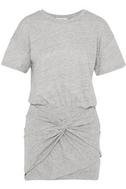 IRO Brelbloa knotted cotton-blend jersey mini dress