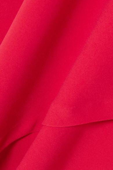 IRO Ekima asymmetrisches Minikleid aus drapiertem Crêpe