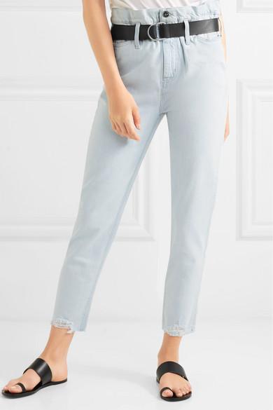 Aven Cropped Distressed High-rise Slim-leg Jeans - Light denim Iro Explore Online otkNXyHB