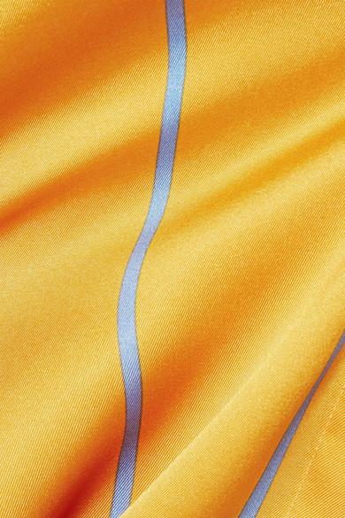Victoria, Victoria Beckham Hemd aus glänzendem Twill mit Streifen
