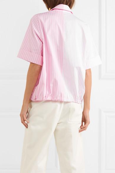 Victoria, Victoria Beckham Gestreiftes Hemd aus Baumwollpopeline