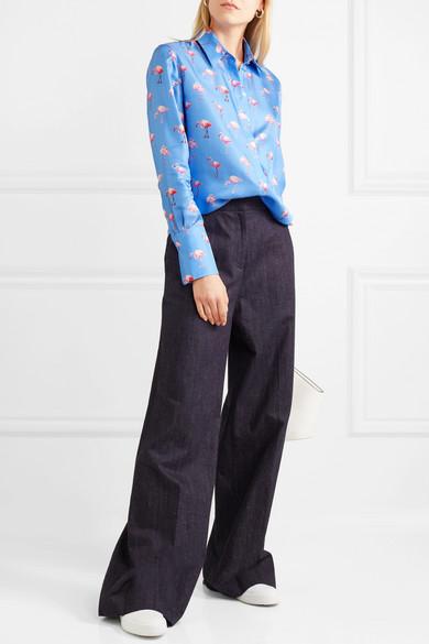 Victoria, Victoria Beckham Bedrucktes Hemd aus Seiden-Twill
