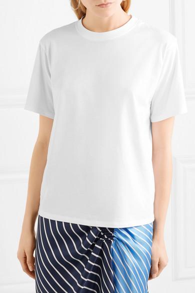 Victoria, Victoria Beckham The Victoria T-Shirt aus Baumwoll-Jersey