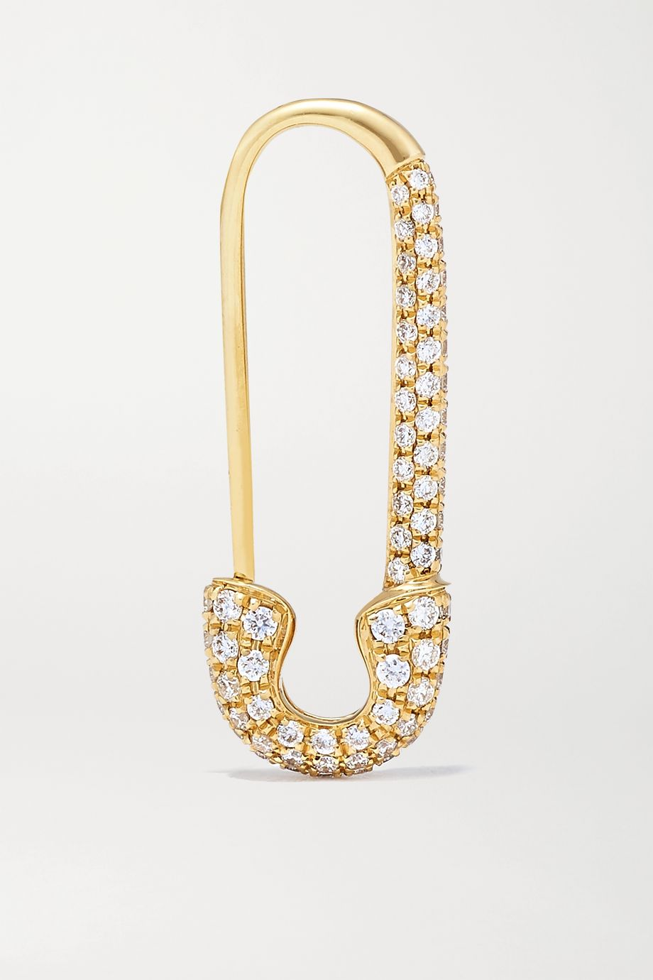 Anita Ko Safety Pin 18-karat gold diamond earring
