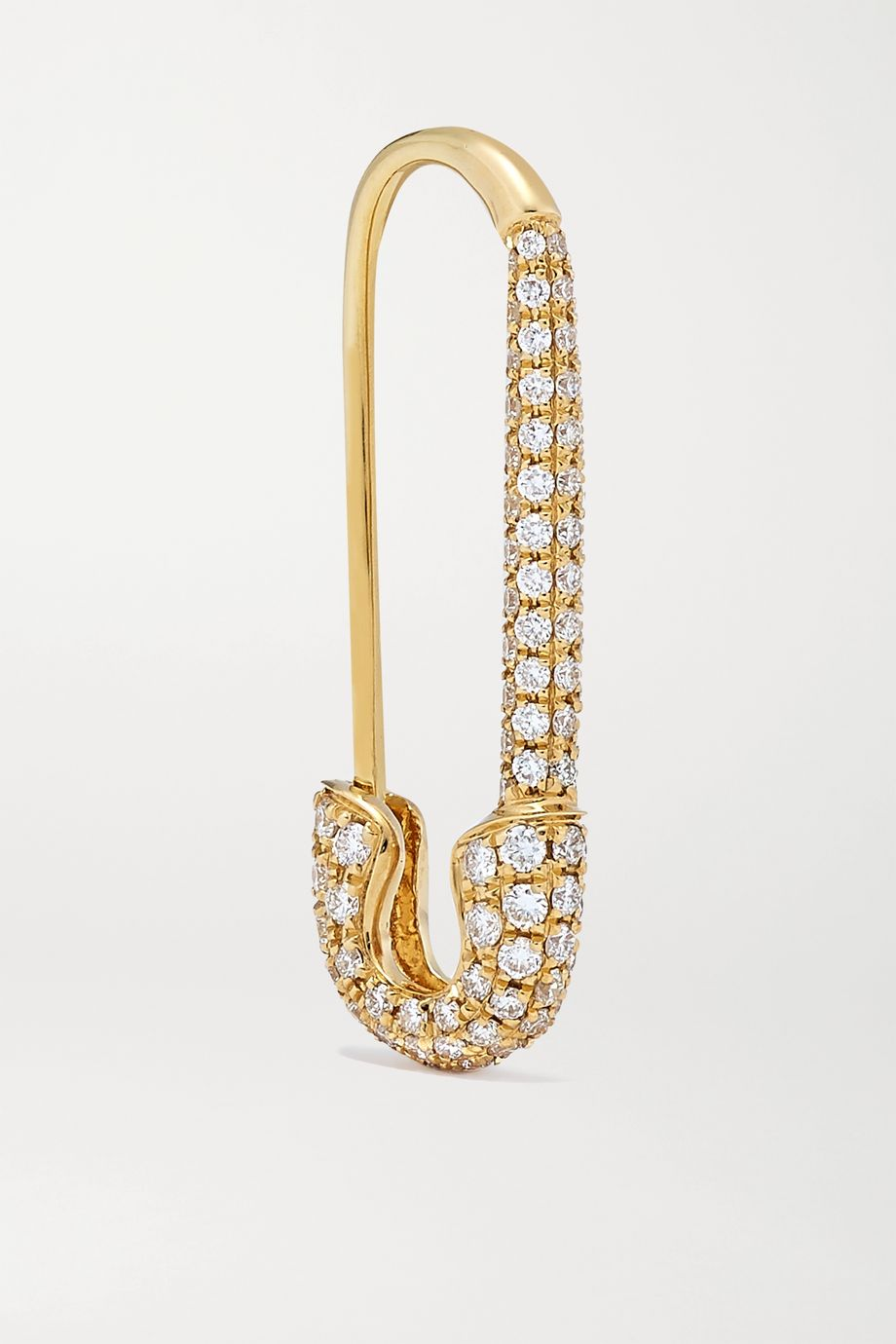 Anita Ko Safety Pin 18K 黄金钻石单只耳环