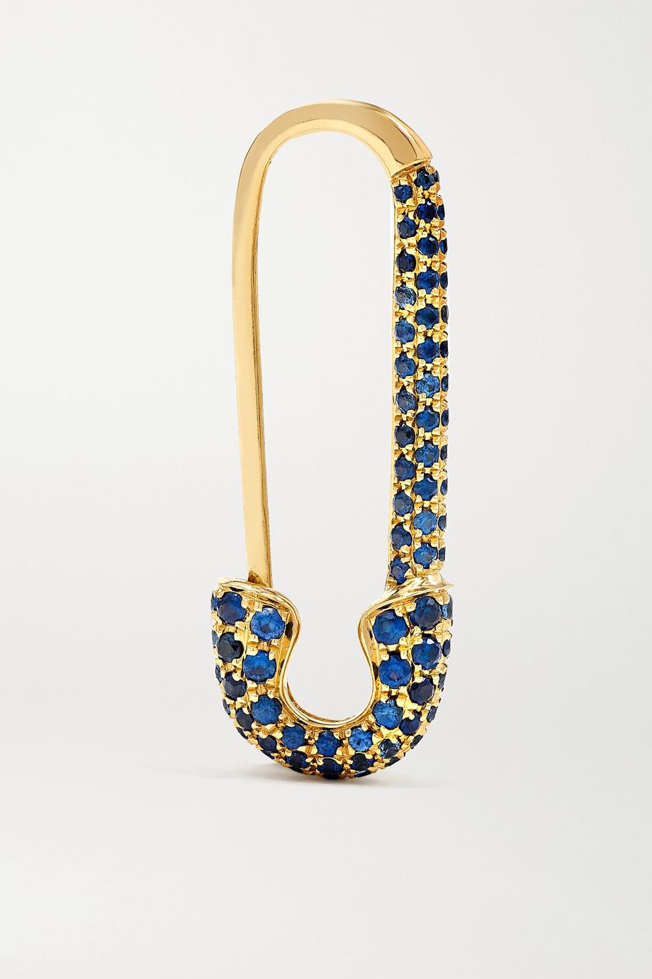 Anita Ko Safety Pin Ohrring aus 18 Karat Gold mit Saphiren