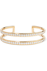 18-karat gold diamond cuff